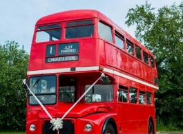 Red London Bus for weddings in Norwich